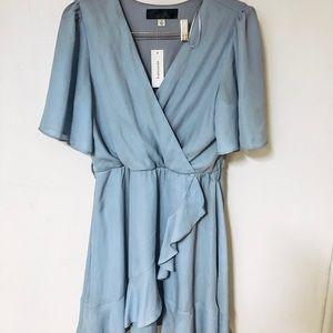 baby blue wrap dress